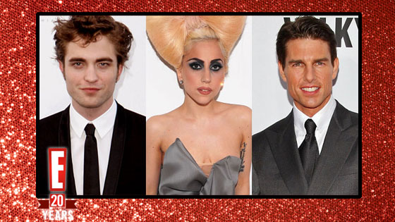 Tom Cruise, Lady Gaga, Robert Pattinson