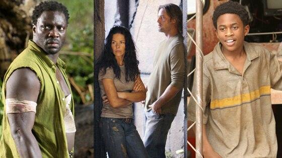 Adewale Akinnuoye-Agbaje, Josh Holloway, Evangeline Lilly, Malcolm David Kelley, Lost