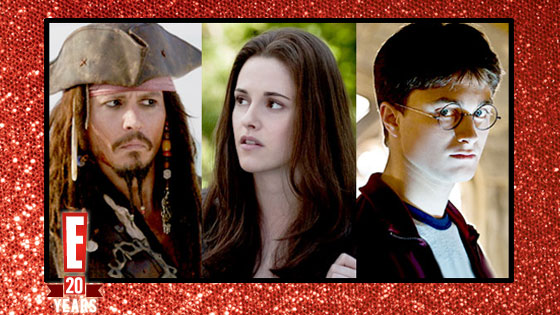 Johnny Depp, Pirates of the Caribbean, Kristen Stewart, Twilight, Eclipse, Daniel Radcliffe, Harry Potter