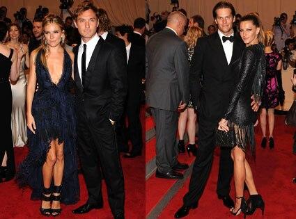 Jude Law, Sienna Miller, Tom Brady, Gisele Bundchen