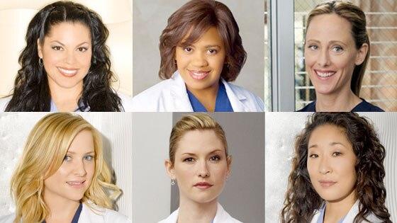 Grey's Anatomy, Sara Ramirez, Chandra Wilson, Kim Raver, Jessica Capshaw, Chyler Leigh, Sandra Oh