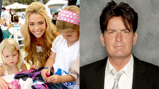 Lola Rose Sheen, Denise Richards, Sam Sheen, Charlie Sheen