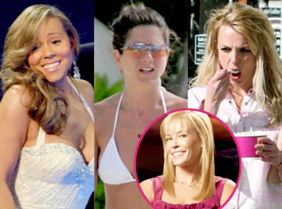 Mariah Carey, Jennifer Aniston, Britney Spears, Chelsea Handler