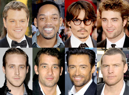 Matt Damon, Will Smith, Johnny Depp, Robert Pattinson, Ryan Gosling, Clive Owen,  Hugh Jackman, Sam Worthington