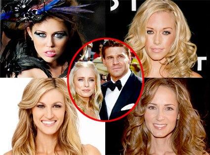 Miley Cyrus, Kendra Wilkinson, Erin Andrews, Chely Wright, David Boreanaz, Jaime Bergman