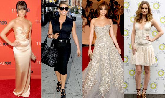 Lea Michele, Jessica Simpson, Jennifer Lopez, Leighton Meester