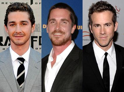 Christian Bale, Ryan Reynolds, Shia LaBeouf