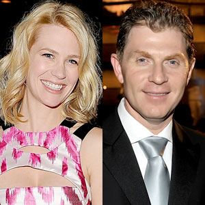 January Jones, Bobby Flay