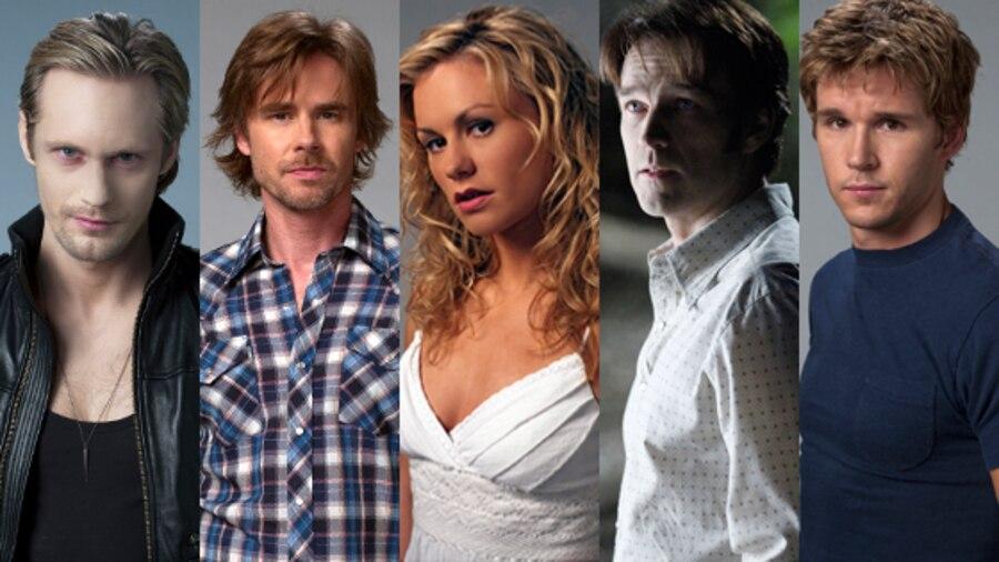 True Blood, Stephen Moyer, Anna Paquin, Ryan Kwanten, Sam Trammell, Alexancer Skarsgard