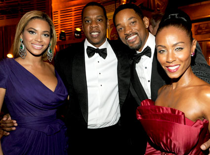 Beyonce, Jay-Z, Will Smith, Jada Pinkett Smith