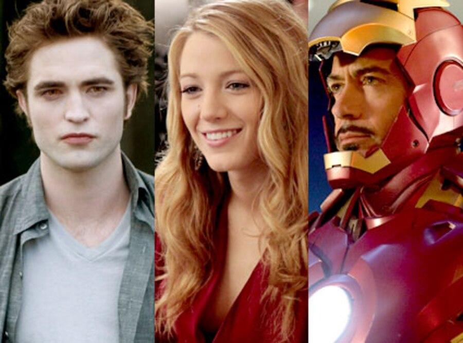 Robert Pattinson, Blake Lively, Robert Downey Jr.