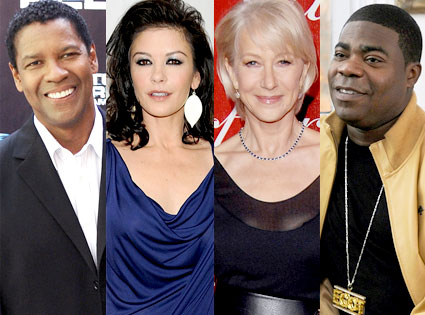 Denzel Washington, Catherine Zeta Jones, Helen Mirren, Tracy Morgan