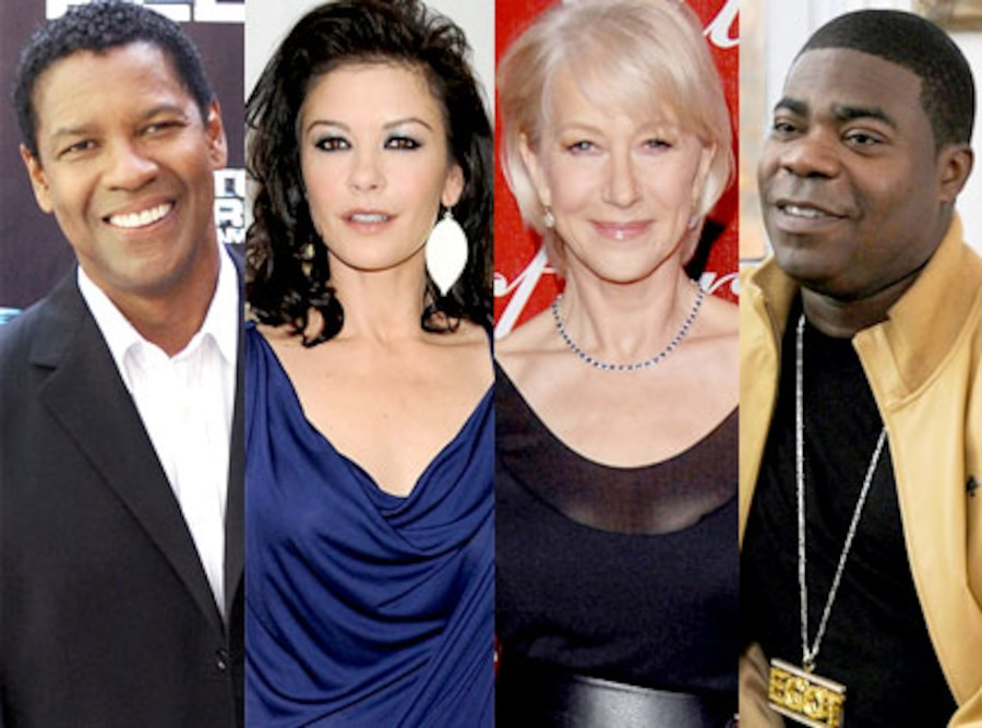 Denzel Washington, Catherine Zeta Jones, Helen Mirren, Tracy Morgan