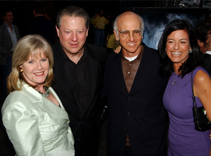 Tipper Gore, Al Gore, Larry David, Laurie David