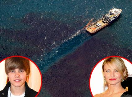 Gulf of Mexico Oil Spill, Justin Bieber, Cameron Diaz