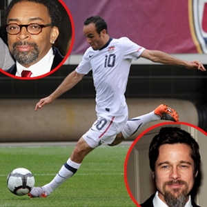 Landon Donovan, Team USA, Spike Lee, Brad Pitt