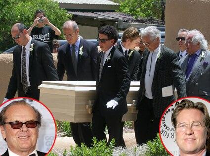 Dennis Hopper Funeral, Jack Nicholson, Val Kilmer