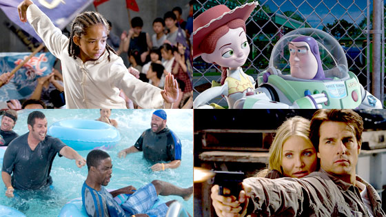 Karate Kid, Toy Story 3, Grown-ups, Knight and Day