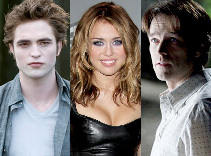 Robert Pattinson, Miley Cyrus, Stephen Moyer