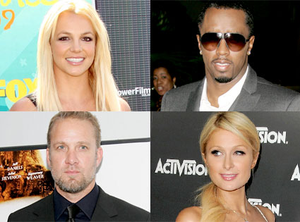 Britney Spears, Sean 'Diddy' Combs, Jesse James, Paris Hilton