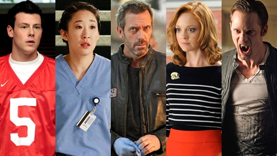 Cory Monteith, Glee, Sandra Oh, Grey's Anatomy, Hugh Laurie, House, Jayma Mays, Glee,  Alexander Skarsgard, True Blood