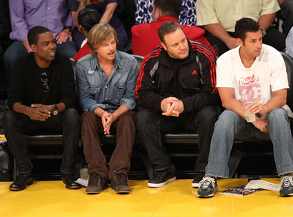 Chris Rock, David Spade, Kevin James, Adam Sandler