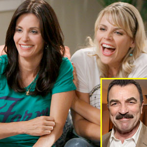 Busy Philipps, Courteney Cox, Tom Selleck