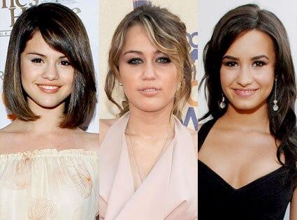 Selena Gomez, Miley Cyrus, Demi Lovato