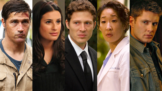 Matthew Fox, Lost, Lea Michele, Glee, Zach Gilford, Friday Night Lights, Sandra Oh, Grey's Anatomy, Jensen Ackles, Supernatural