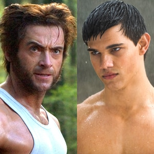 Hugh Jackman, X-Men, Taylor Lautner, New Moon