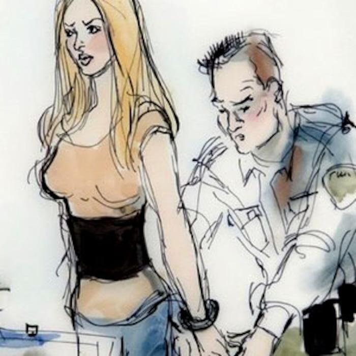 Lindsay Lohan, Court Sketch