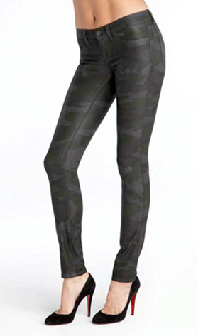 J Brand's Wax Stretch Skinnies in Camouflage