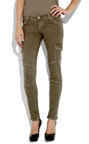 Cotton-Blend Skinny Cargo Pants
