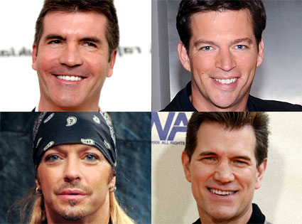 Chris Isaak, Simon Cowell, Bret Michaels, Harry Connick Jr.