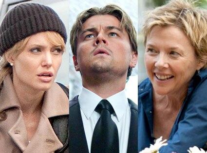 Angelina Jolie, Leonardo DiCaprio, Annette Bening