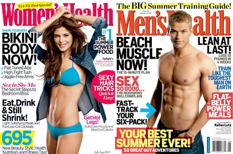 Ashley Greene, Women's Health, Kellan Lutz, Men's Health