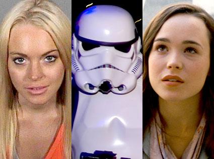Lindsay Lohan, Stormtrooper, Ellen Page