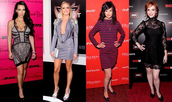 Kim Kardashian, Katie Holmes, Kristin Cavallari, Christina Hendricks