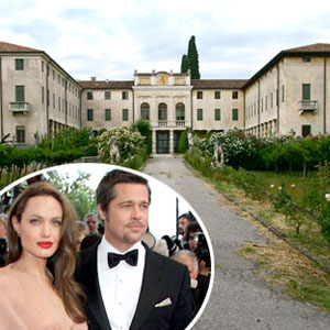 Angelina Jolie, Brad Pitt, Italian Villa