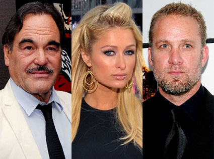 Oliver Stone, Paris Hilton, Jesse James