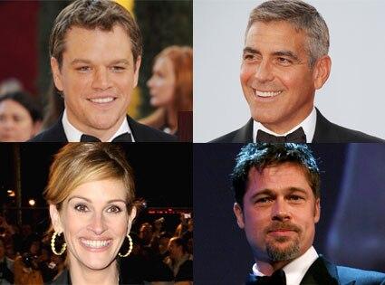 Matt Damon, George Clooney, Julia Roberts, Brad Pitt