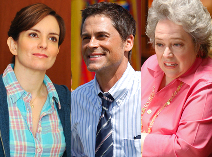 Tina Fey, 30 Rock, Rob Lowe, Parks and Recreation, Kathy Bates, The Office