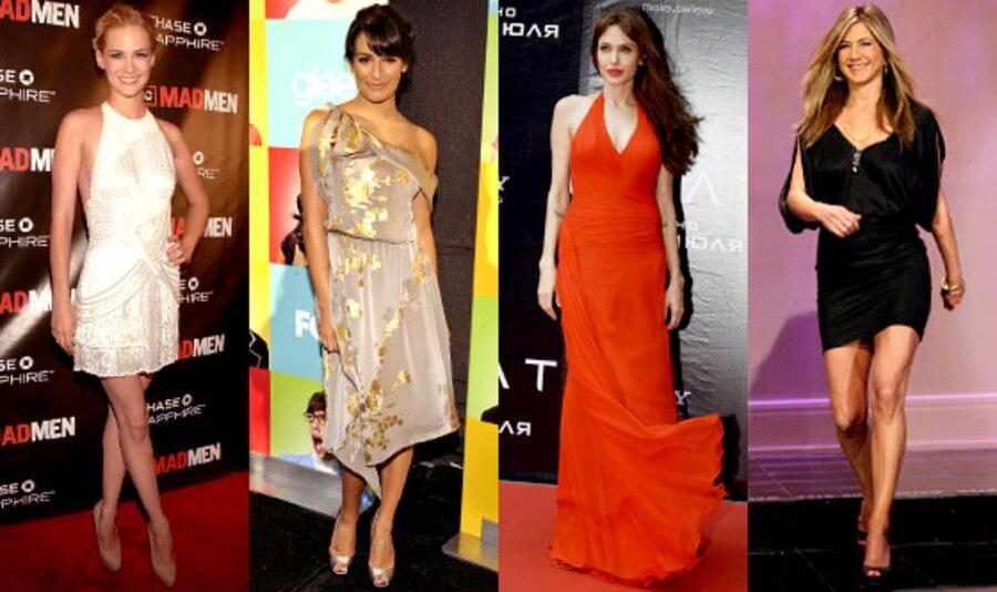 Angelina Jolie, Lea Michele, January Jones, Jennifer Aniston