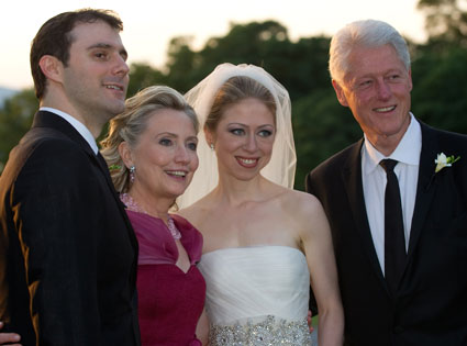 Hillary Clinton, Bill Clinton, Chelsea Clinton, Marc Mezvinsky Wedding