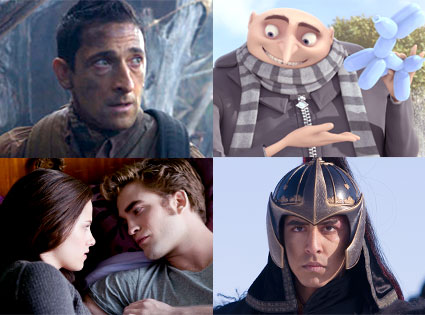 Predators, Adrian Brody, Despicable Me, ECLIPSE, The Last Airbender, Dev Patel