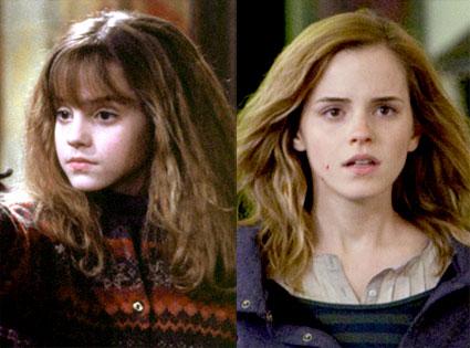 Emma Watson, Harry Potter, Sorcerer's Stone, Deathly Hallows