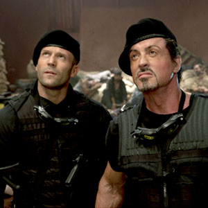Jason Statham, Sylvester Stallone, The Expendables