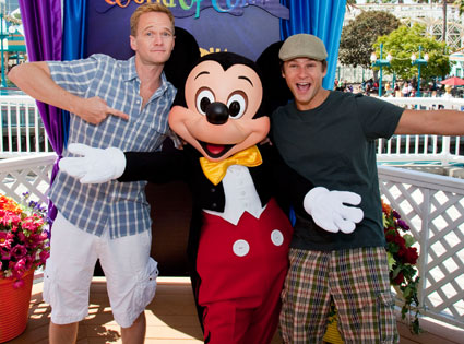 Neil Patrick Harris, David Burtka, Mickey Mouse