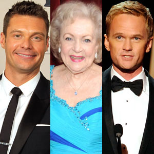 Ryan Seacrest, Betty White, Neil Patrick Harris