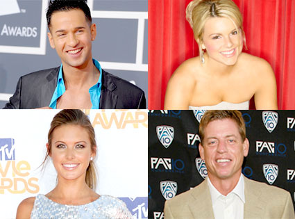 Mike 'The Situation' Sorrentino, Ali Fedotowsky, Audrina Patridge, Troy Aikman